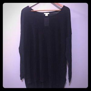 Black sheer knit top